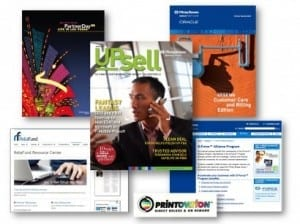 Entente samples collage - marketing, sales, business development